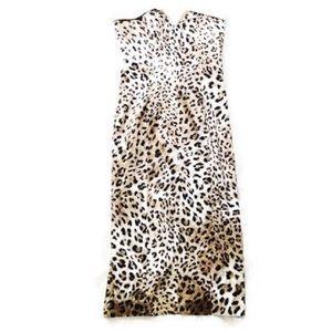Dina Bar-el Designer Rare Leopard Satin Dress